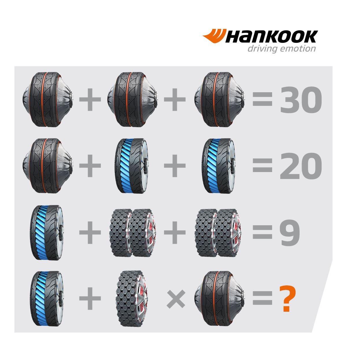 Unsere Konzeptreifen als Mathe-Test - kommt ihr auf die Lösung? 🤔 #HankookReifen #ConceptTyres #Mathetest https://t.co/RB0rNpUTlX