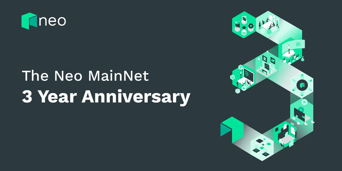 As partner of NEO EcoBoost,Coinsuper would like to express the warmest congratulations on Neo MainNet 3 years anniversary! @NEO_Blockchain