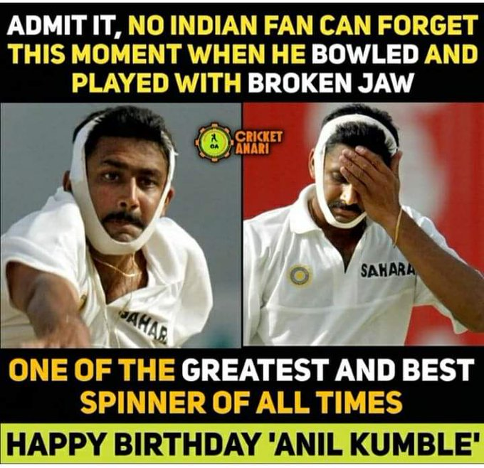 Happy Birthday sir Anil kumble