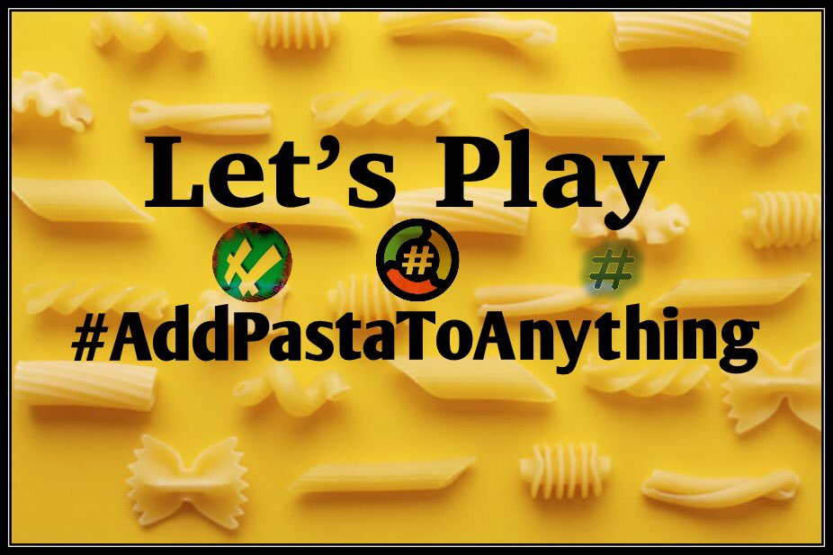 Join me and @hockeybtch71 on our @HashNight as we celebrate #NationalPastaDay with a hashtag that'll have you wanting to boil some water. Let's play  #AddPastaToAnything  Part of the @Roundup hashtagliatelle experience and Fueled by @TheHashtagGame