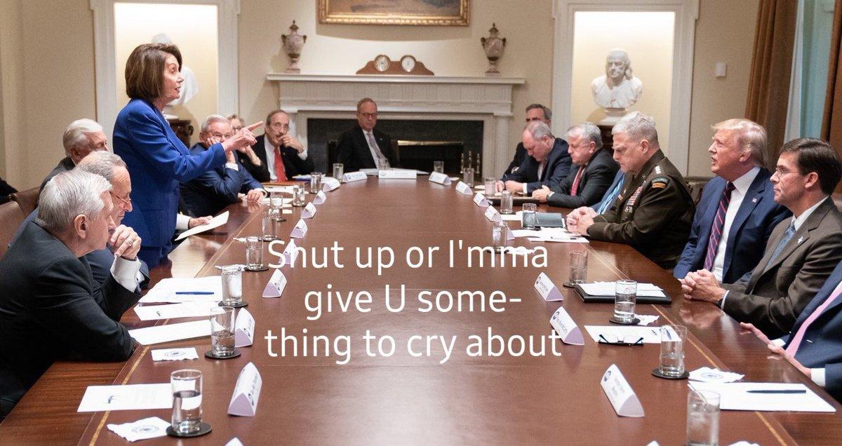 Replying to @cburnett_b: Momma Pelosi did not come to play! #Meltdown #pelosi4president