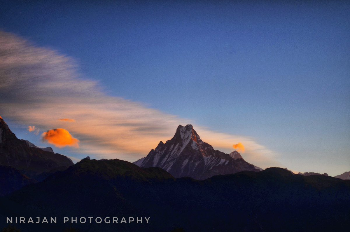 Morning view from Poonhill, #sunrise Mt. Fishtail. Short trek in Nepal with Rugged Trails Nepal. http://www.ruggedtrailsnepal.com  #Nepal #mountains #photography #trekking_in_nepal #nepalviaje #travel #visitnepal2020 #hikewithusinnepal #ruggedtrailsnepal #annpurna