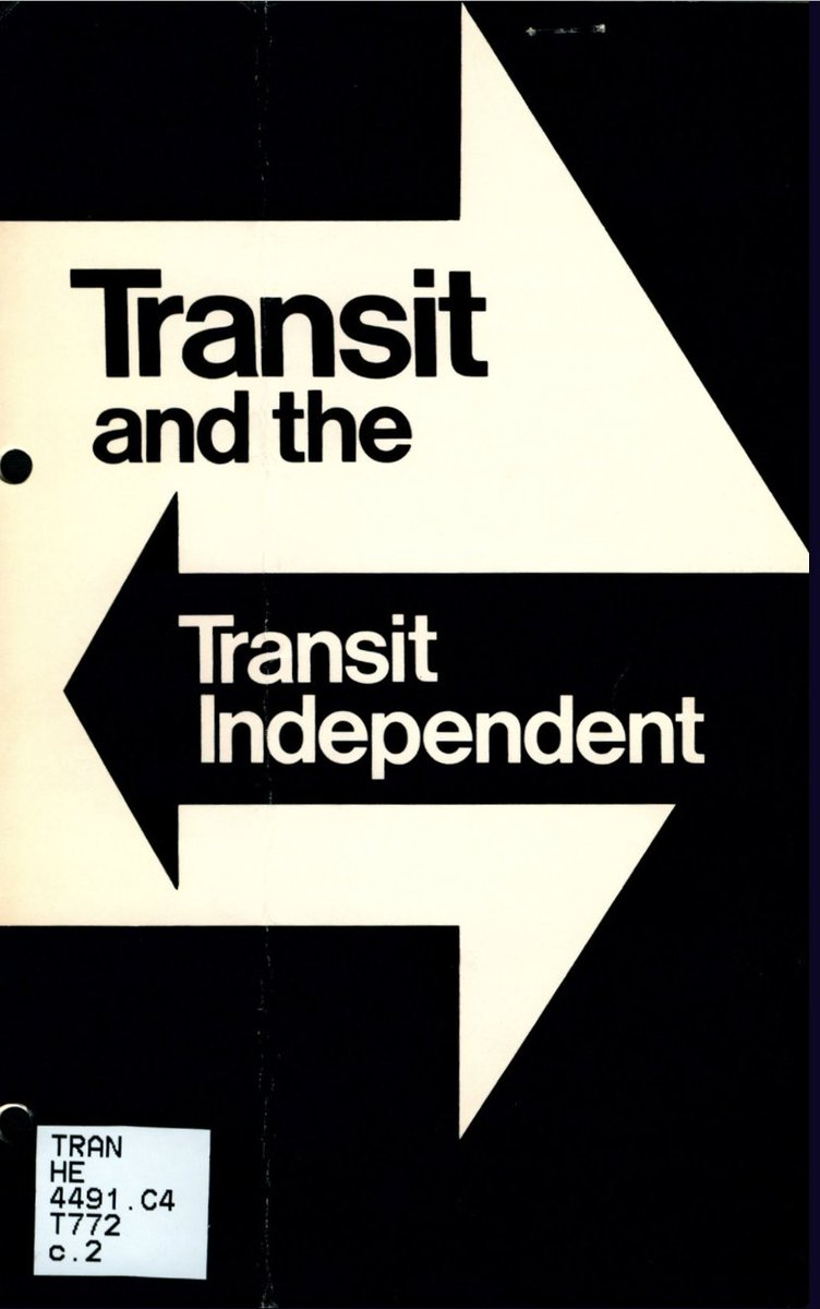 From @rmartincole, a great thread of government brochure covers from the @NorthwesternU Transportation Library. This is exactly the kind of work I did at my first internship in 1975 twitter.com/rmartincole/st…
