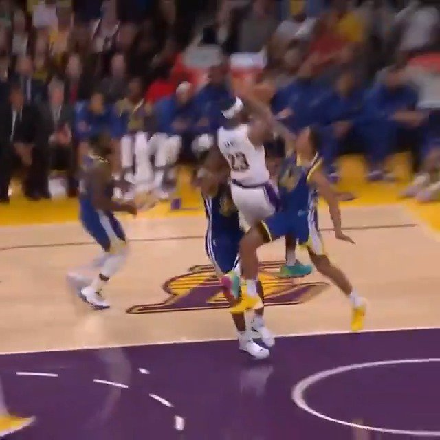 LeBron's acrobatic no-look pass is a reminder these Lakers are worth staying up late for