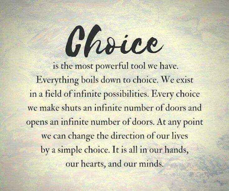 #CHOICE #WednesdayThoughts #WednesdayWisdom #WordsOfGreatness #wordsofwisdom #wordstoliveby