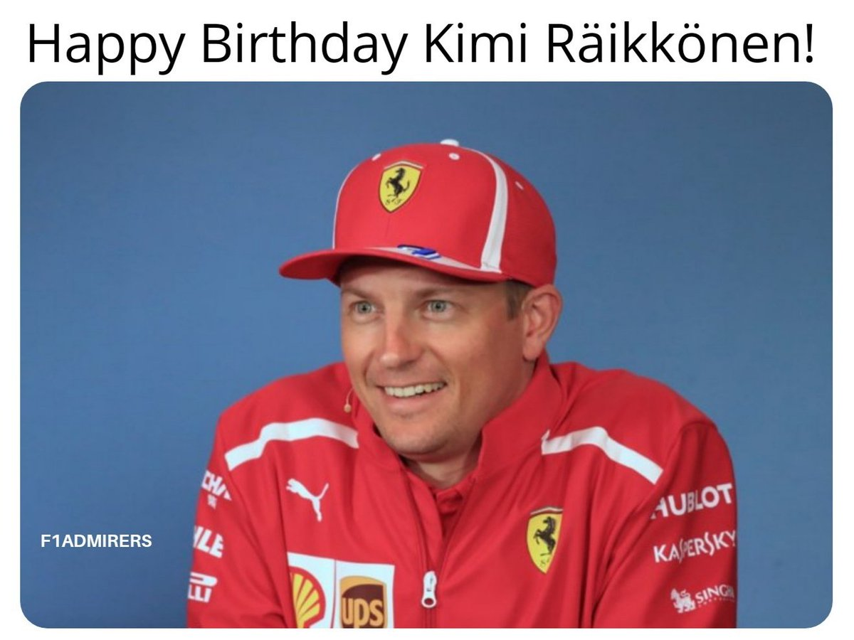 Ferrari's last champion & the only driver to win a race in the V10, V8 & V6 hybrid engine eras turns 40 today. -- #KimiRaikkonen #Räikkönen #Sauber #AlfaRomeoRacing #Scuderia #McLarenMercedes #ForzaFerrari #Monza #SpaFrancorchamps #F1WorldChampion #MotorsportsF1 #F1 #Formula1