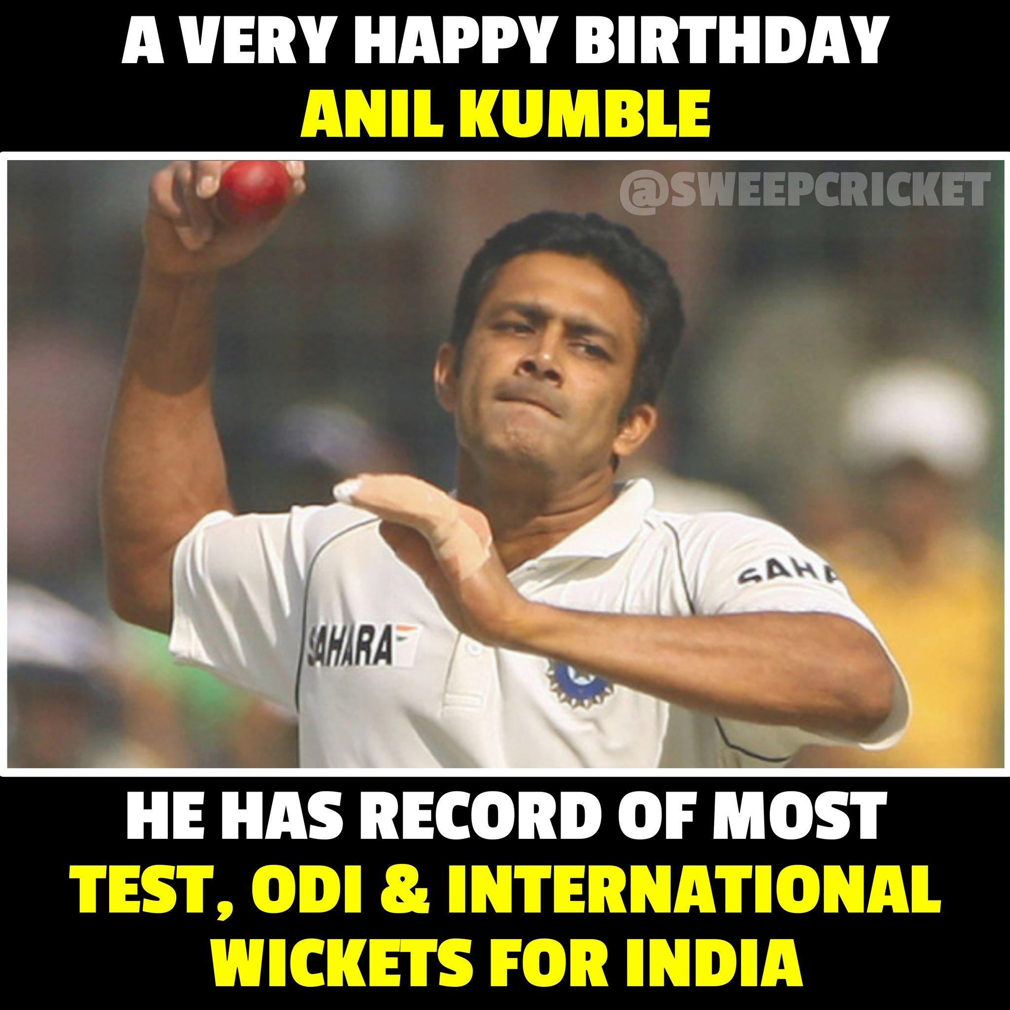 A very Happy Birthday Anil Kumble