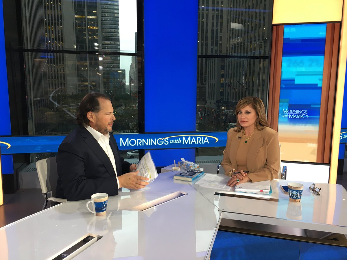 Happening now: @MorningsMaria  @FoxBusiness  @Benioff  on capex our customers are still investing aggressively in the digital transformation. Europe has been healthy for us w 30% growth. @facebook  is the new cigarettes