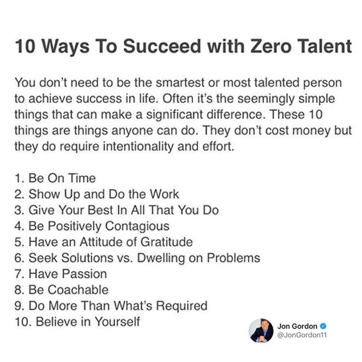 Which of these 10 is most important? What would you add?