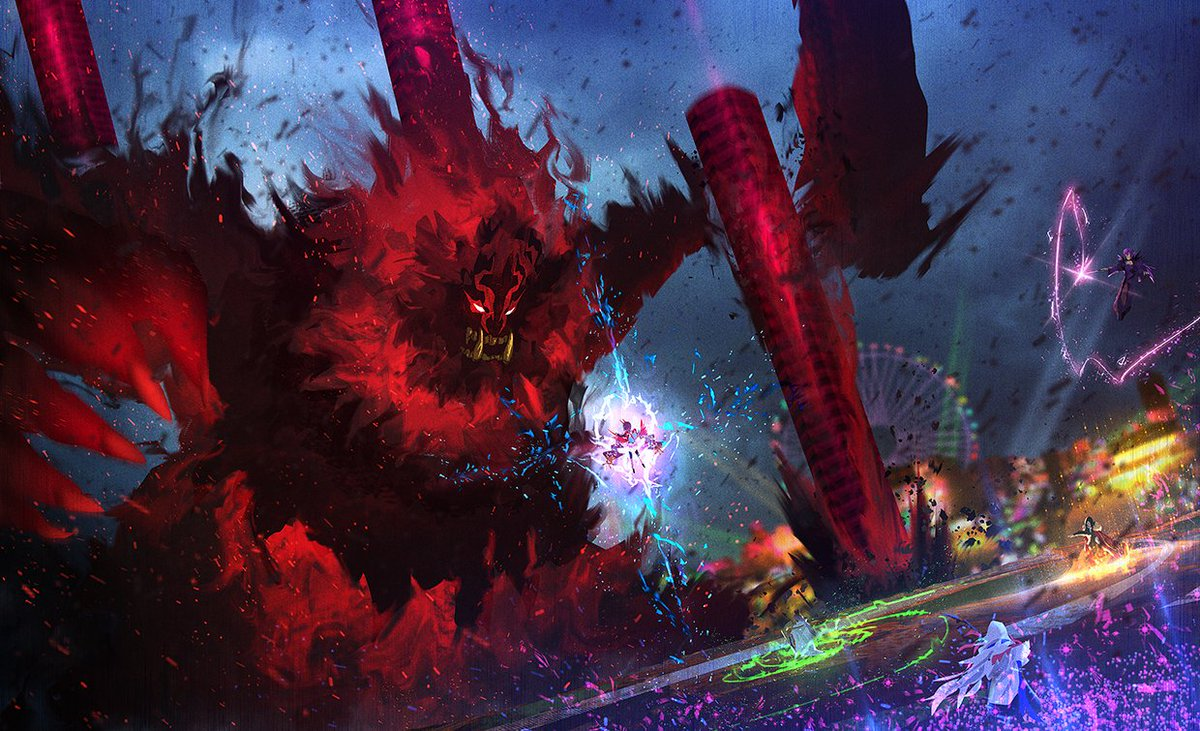 Fate/Grand Order炎舞撃退戦(鬼救阿級) レイド戦酒呑童子[キャスター]陳宮マーリンスカサハ=スカディ諸葛孔明[エルメロイⅡ世]#FGO #FateGO