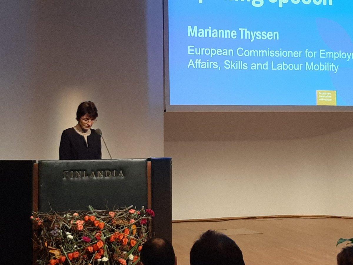 "Resultado de imagen para video European Vocational Skills Week: Speech by Commissioner Thyssen on ""VET in and for the World"""
