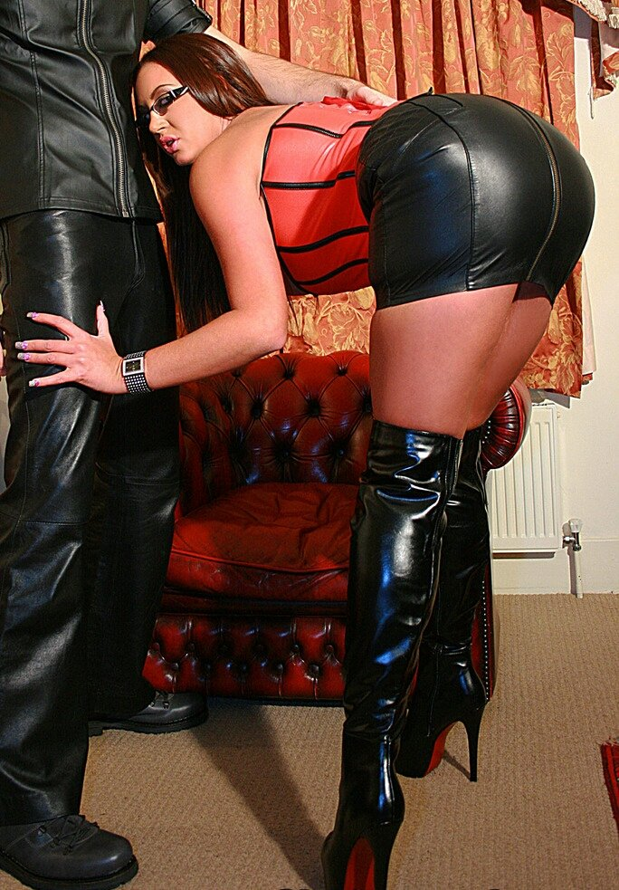 Tight leather pants sex