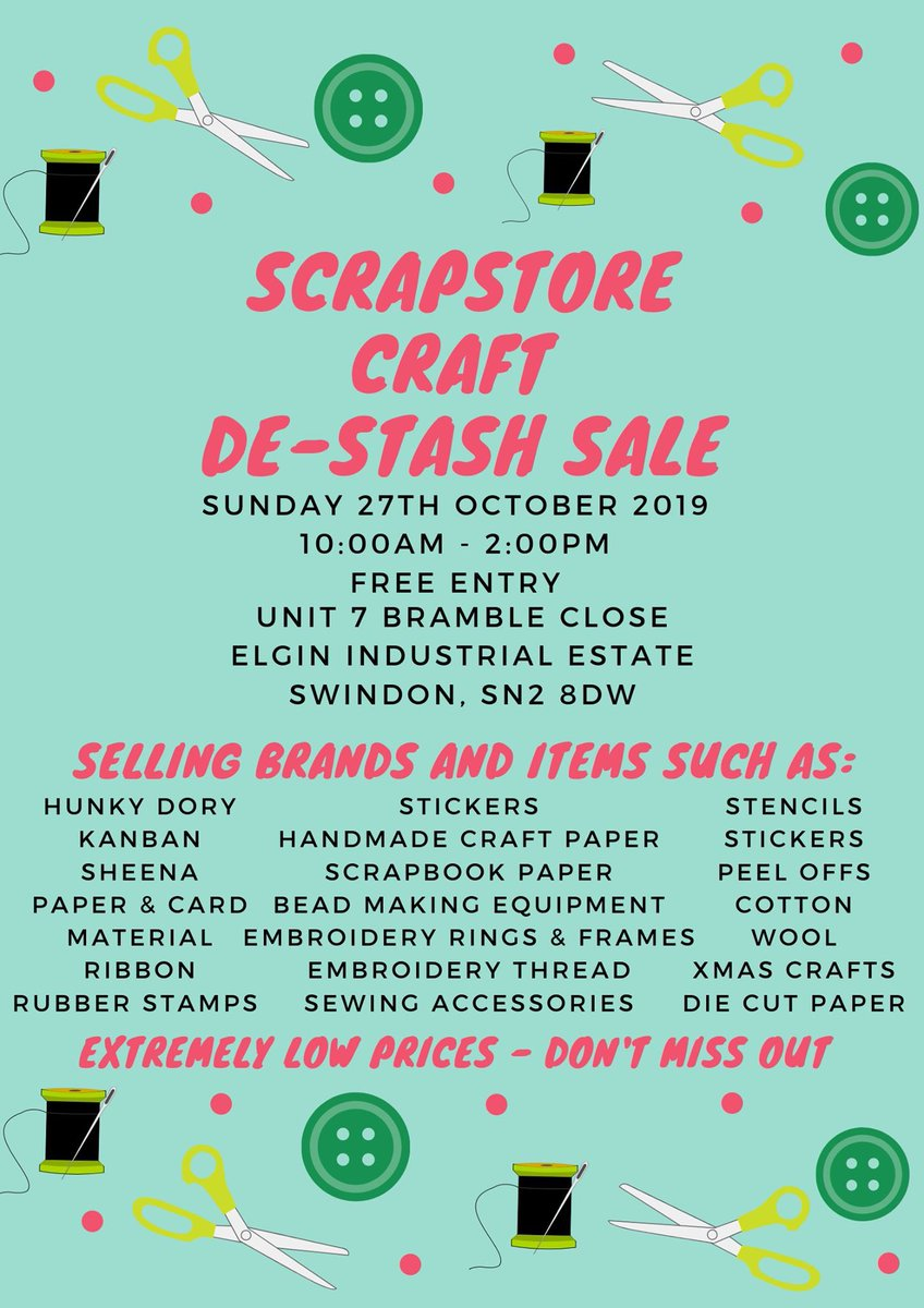 Swindon Scrapstore (@SCScrapstore) on Twitter photo 17/10/2019 15:49:11