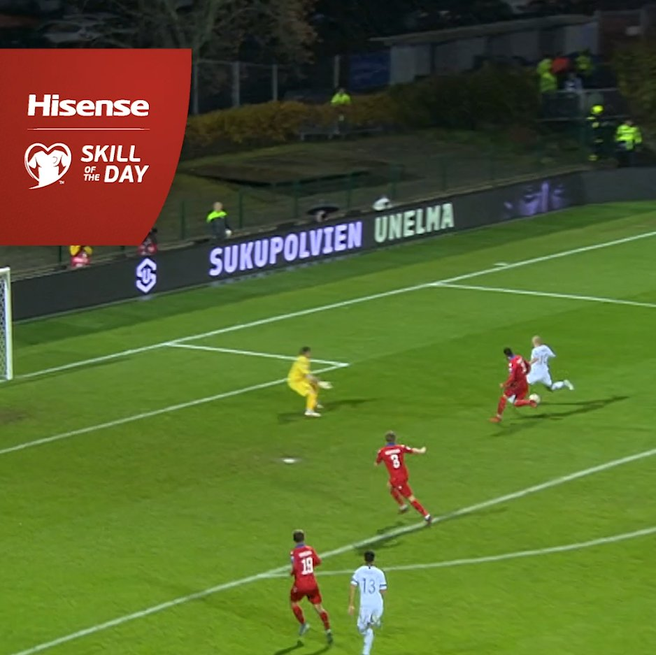 🇫🇮 Pukki wins Skill of the Day with a stunning chip 🤩 #EURO2020 | #HisenseSkills | @HisenseSports