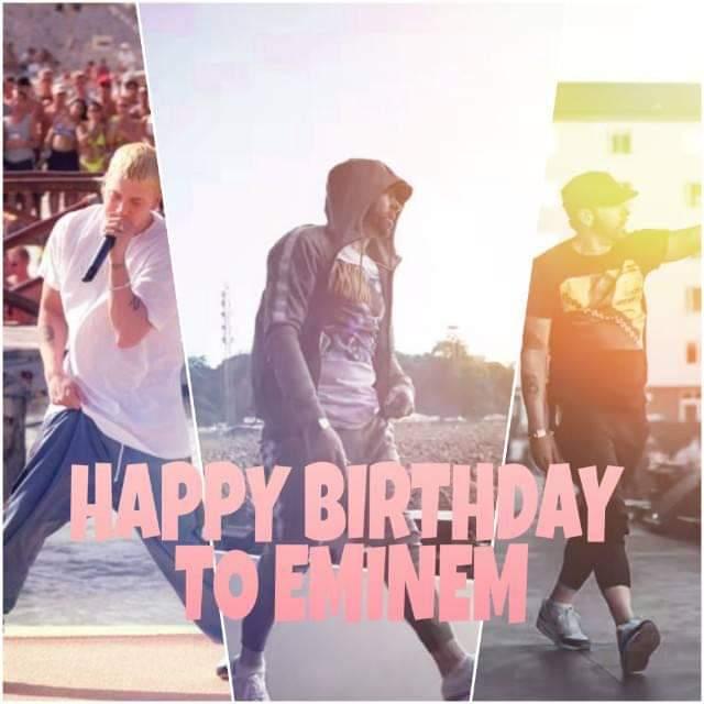 Happy Birthday Eminem  G O A T