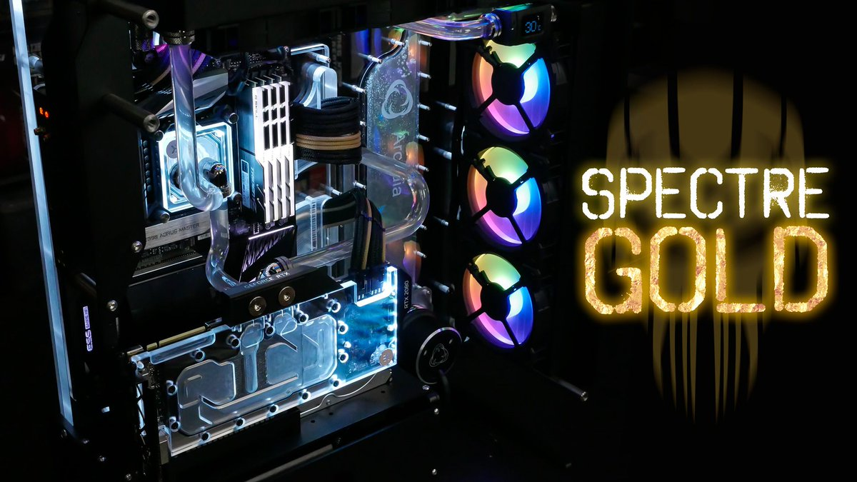 Spectre - Gold Update  Checkout this post for more photos https://buff.ly/33IS37P  Need a #customgaming system like this?  Request a quote now https://buff.ly/2oQFwjD #clientbuild #scspectre #singularitycomputers #gaming #customsystems #liquidcoolingsystemspic.twitter.com/el2BengBcF