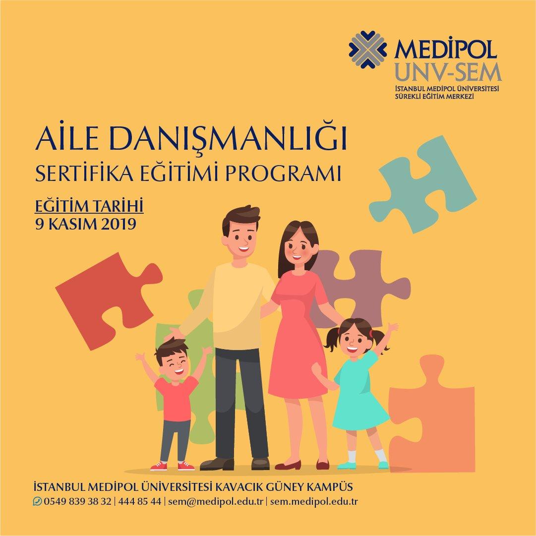 Aile Danışmanlığı Sertifika Programı 9 Kasım'da başlıyor! Detaylı bilgi ve kayıt için web sitemizi ziyaret edebilirsiniz.  #medipolunvsem #sertifikaprogramları #ailedanışmanlığı