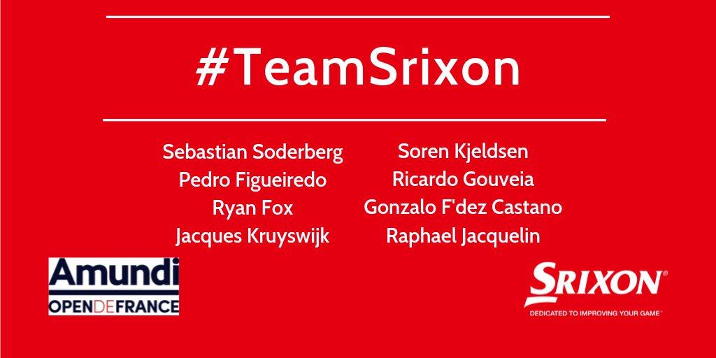 Amundi Open de France has started! Good luck to #TeamSrixon this week! @SebastianSoderb @PedroFiggy @ryanfoxgolfer @jakesgolf62 Soren Kjeldsen @MelinhoGolf @gfcgolf @Raphjacquelin