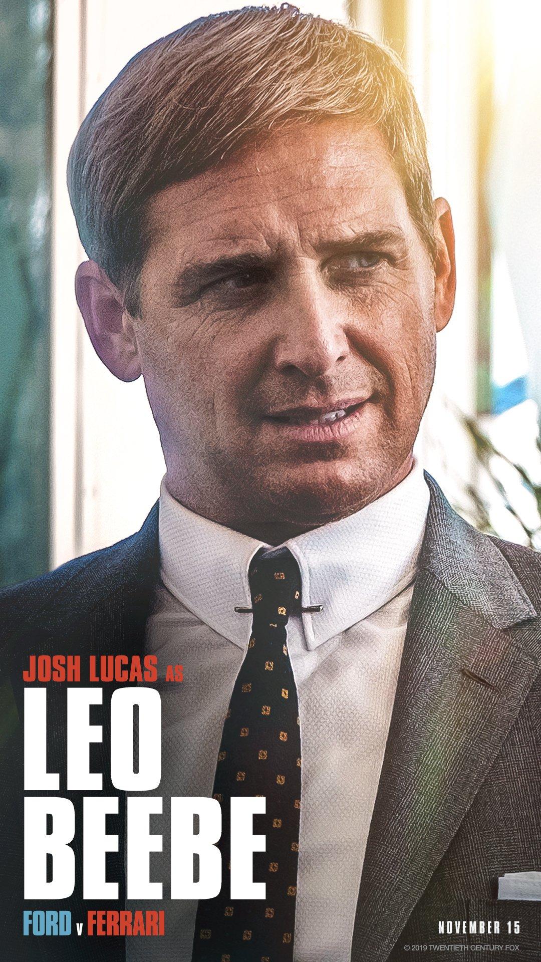 Ford V Ferrari On Twitter See Josh Lucas As Leo Beebe In Fordvferrari In Theaters November 15