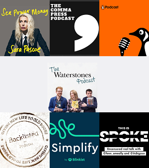 The shortlists for this year's prestigious @TheFutureBook Awards have been revealed  🌟 Shortlisted for Podcast of the Year are: The @Waterstones Podcast, The @commapress Podcast, Penguin Podcast, @BacklistedPod, Simplify, @thisisspokepod and Sex Power Money with @sarapascoe 🎧