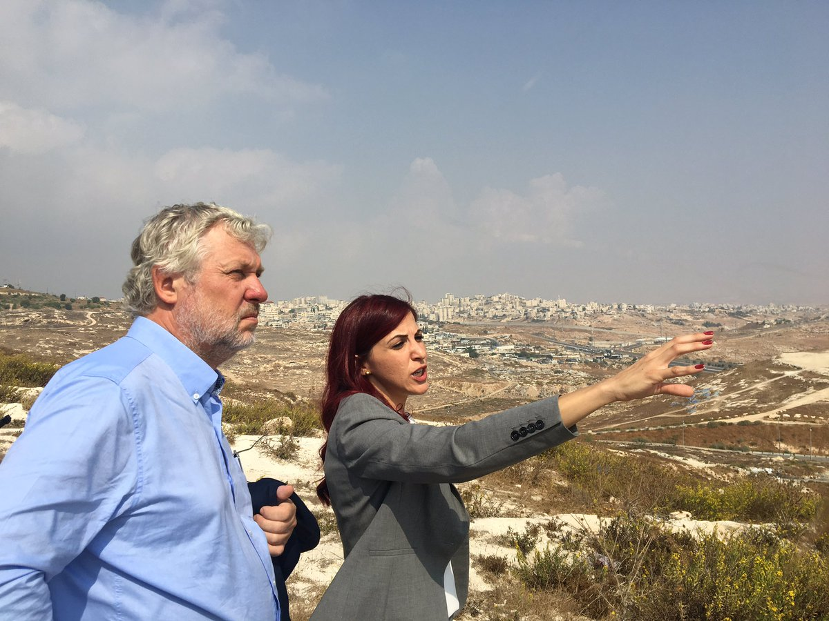 Visiting East Jerusalem and area C of the West Bank together with @UNOCHA The occupation puts severe restrictions on housing, movement and infrastructure for Palestinians and a future two-state solution.