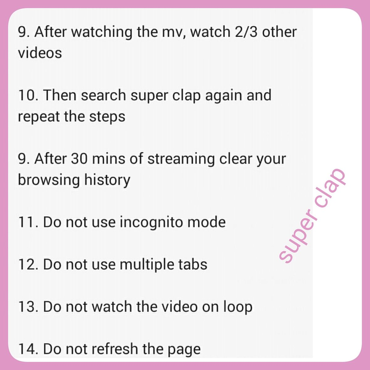 On Twitter How To Stream Super Clap On Youtube Properly Ps Remember To Login To All Your Youtube Acc And Leave A Like On The Mv But You Should Logout And