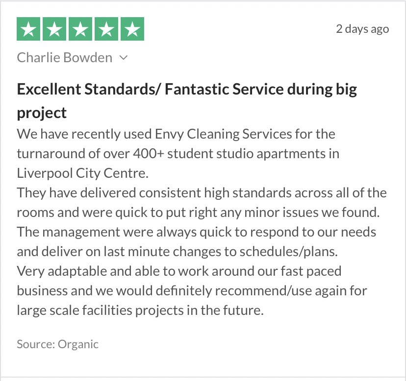 Contact us for a no obligation quote. We understand that all clients have differing needs and budgets and we work with our clients to create a tailor made cleaning service bespoke to them and their requirements. #liverpool #commercialcleaning #officecleaning #liverpoolcleaners pic.twitter.com/CdOzVejVtM