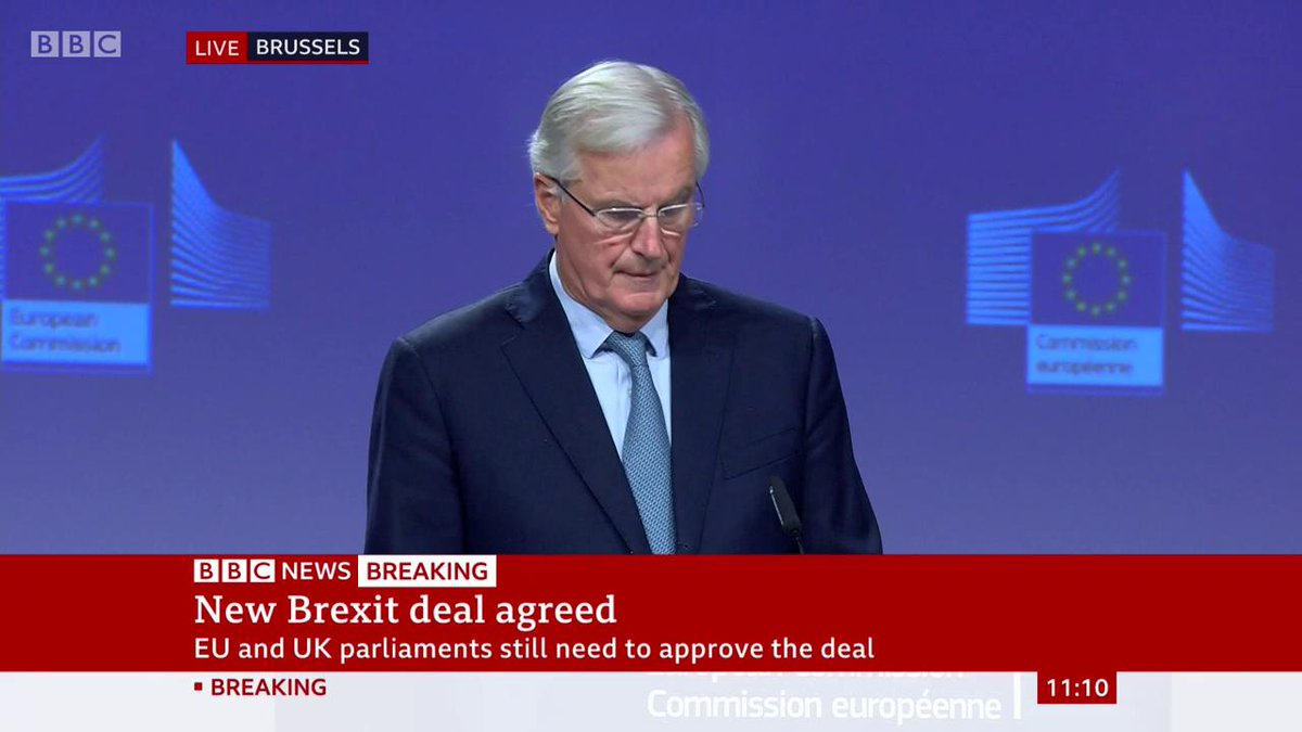 """""""For me, since day one, what really matters are the people, the people of Northern Ireland and Ireland, what really matters is peace"""" - Michel Barnier outlines the four key points in Brexit negotiations involving the island of IrelandLatest: http://bbc.in/31tpZnq"""