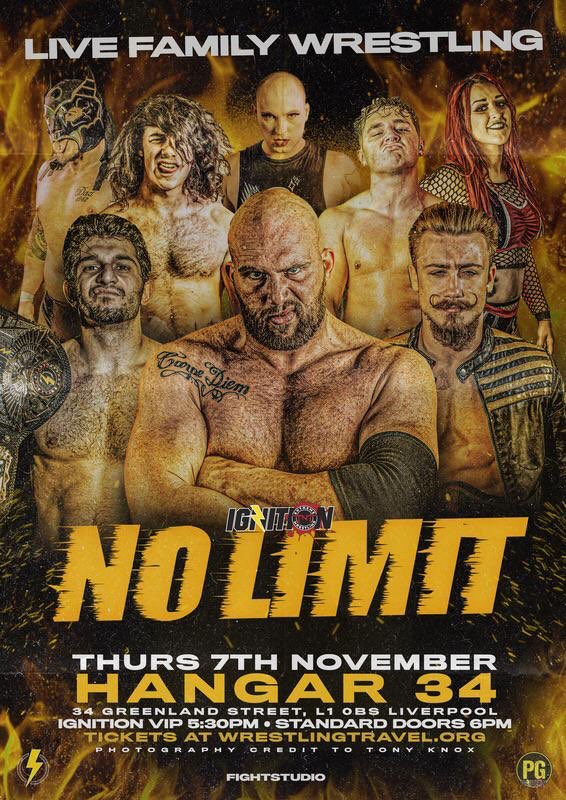 Whatever you've got planned for the night of 7th November, cancel it and head to @Hangar34_Live in Liverpool for @TNTExtremeWres #NoLimit2019  @Cody_Hall1  @LJ_Cleary  @ScottyDavisSSM  @alexxisfalcon  @Ricky_KnightJr  @visagewrestler   🔥🔥🔥🔥🔥🔥  🎫 https://t.co/wXds0lJDcN https://t.co/hUcNLcjT1z