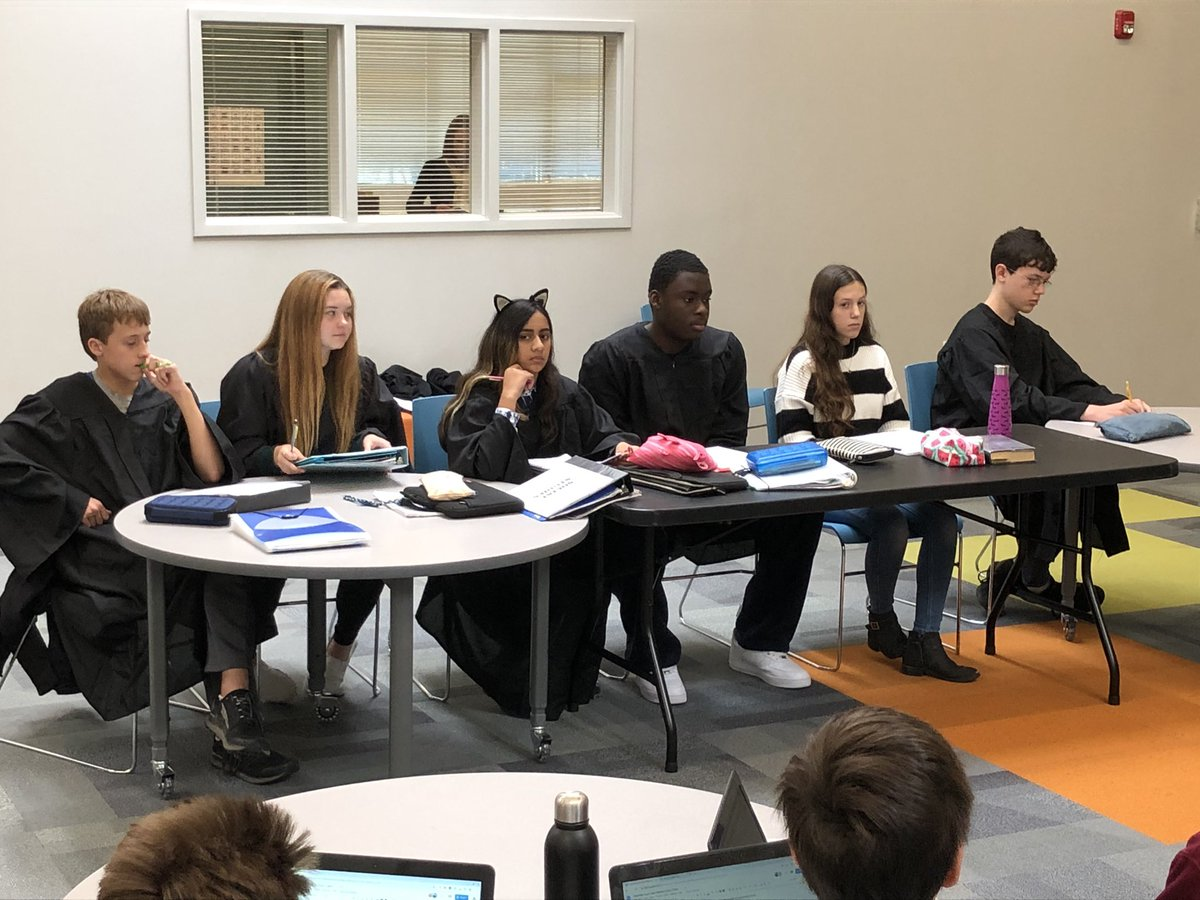 Eighth grade Supreme Court hears a case about drones in Social Studies. #TDSjourney