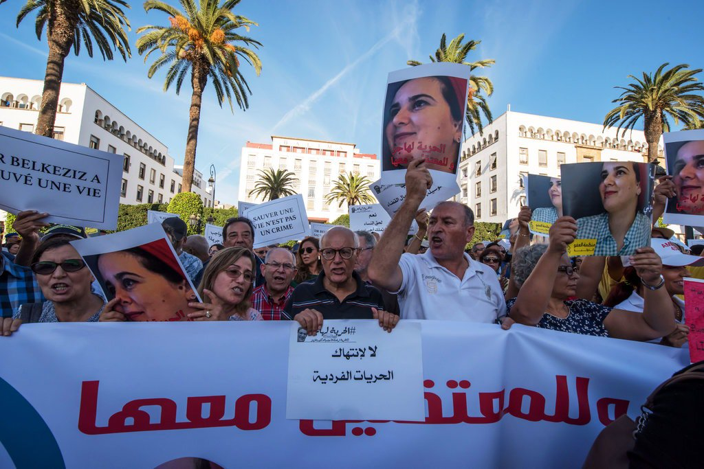 Moroccos king pardons a journalist who, in apparent retaliation of her independent voice, was sentenced to a year in prison for an abortion she says she never had. Now to repeal the law permitting such an outrage. trib.al/NwHbbdj
