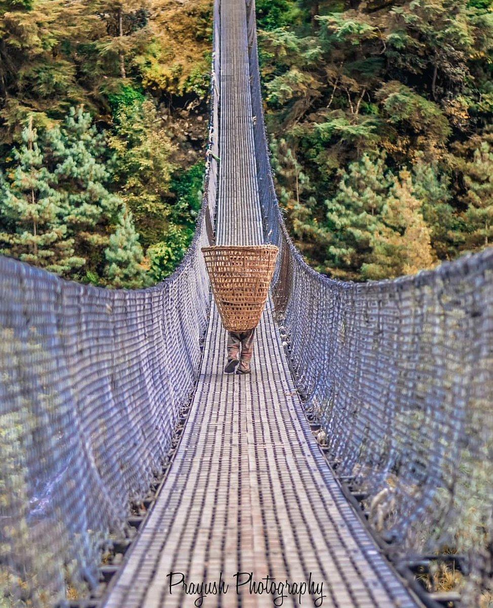 Connecting cities connecting trade connecting culture, flourishing tradition. Every day rituals!!#visitnepal2020 #naturallyblessed #discovernepal #roadadventure #nepaltourism #wonderersland #wownepal #explorenepal #brigde #nepaladventure #beautifulnepal #roads #hills #nepalnow