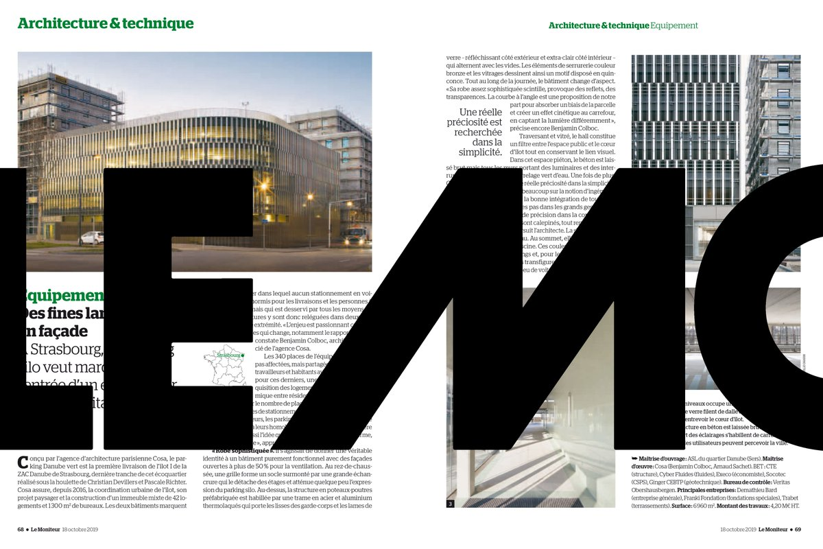 """Entreprise Maitrise D Oeuvre cosa on twitter: """"on newsstands (re)discover cosa's danube"""
