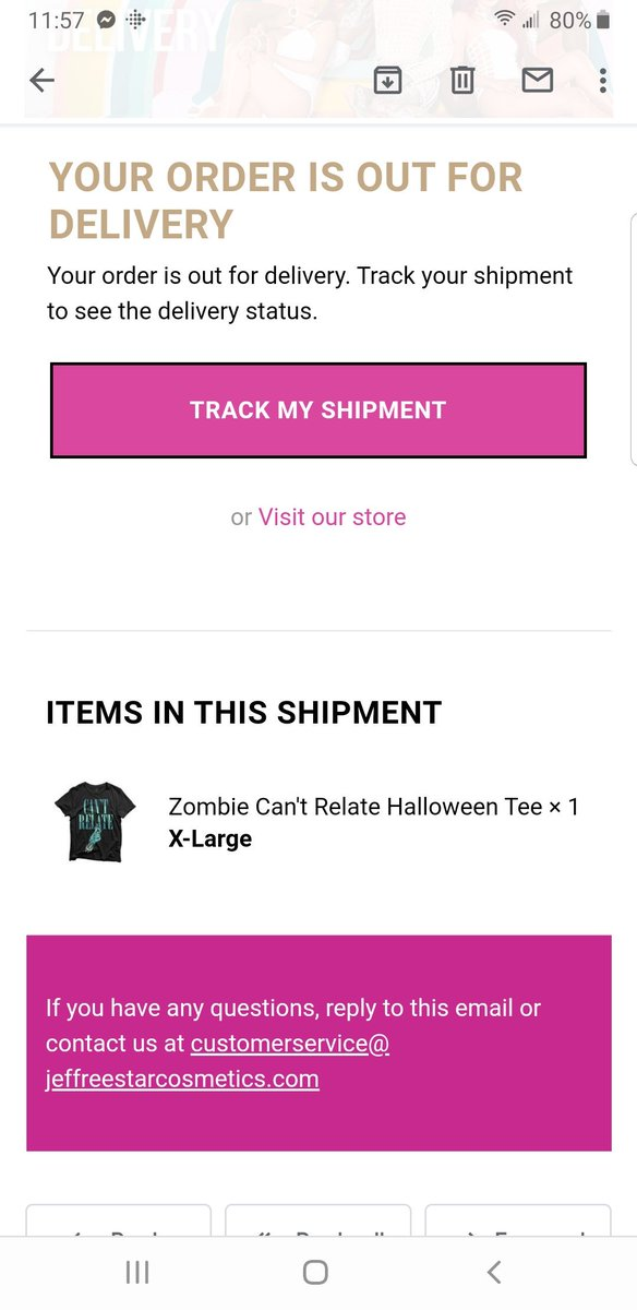 @JeffreeStar my #zombieshirt is on the way today and my #MysteryBox just finished processing!pic.twitter.com/QmgLVpthyy