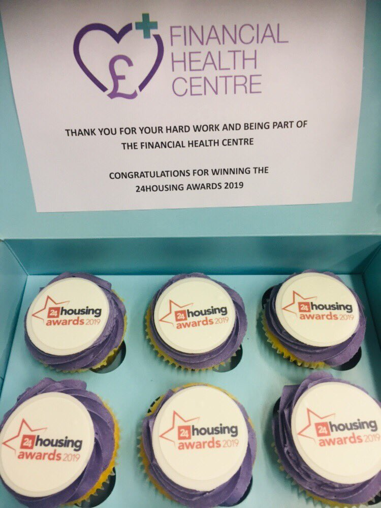 Delivered cupcakes today to all @THHomes Financial Health Centre partners to share the @24housingAwards love, after winning the Welfare Wise category of the awards last Thursday, as many partners couldn't attend the awards ceremony. #24awards @24housing #ukhousing