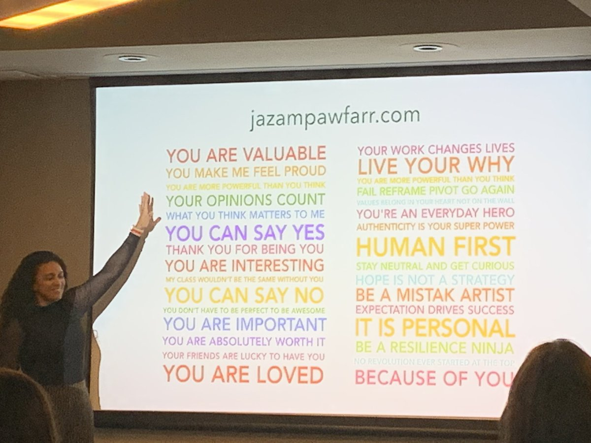Life-changing and life-affirming words from @jazampawfarr . One of my best afternoons ever!!!!