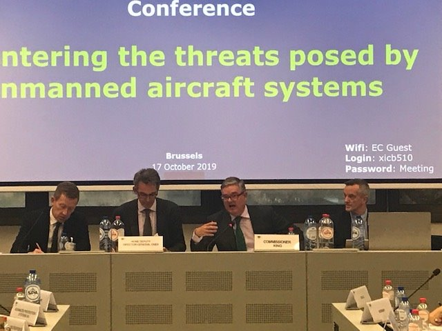 Wrapping up excellent day's talks with European and international partners on tackling security risks from #drones. Need to counter misuse of this technology by malicious actors.