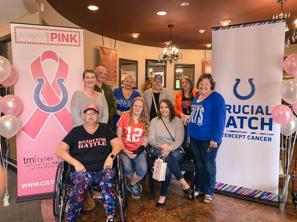 Pamper Her Pink was an incredible day spent with breast cancer battlers and survivors!💕 Grateful to have teamed up with @AshleyHomeStore for the month of #CrucialCatch, @TylerMasonSalon for the ladies' salon + spa treatments and @Harryandizzys for dinner! #HeartOfTheHorseshoe