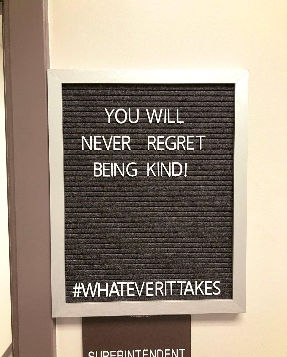 You will never regret being kind! #JoyfulLeaders @EnergyBusSchool