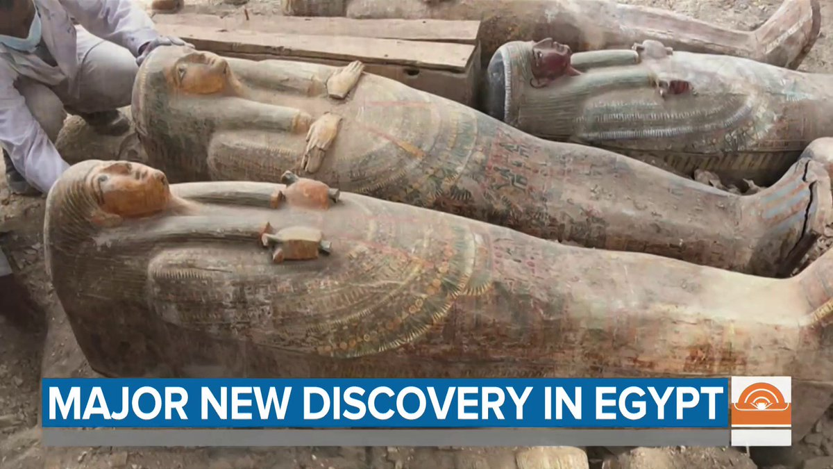 Archaeologists have uncovered at least 20 well-preserved sealed coffins in Egypt that are thousands of years old, @mollymhunter reports.