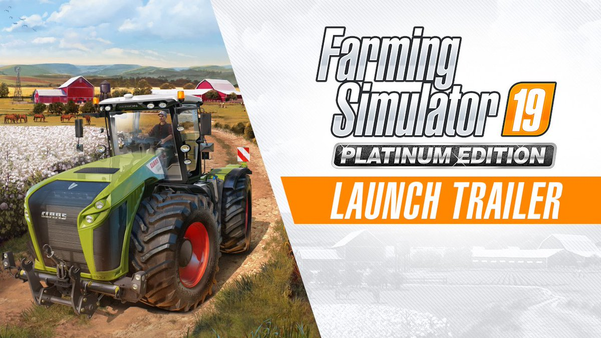 Prepare to reap what you sow. Farming Simulator 19 Platinum Edition hits PS4 October 22: http://play.st/31kkojc