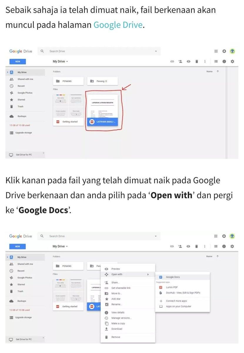 Resume Kreatif On Twitter Cara Tukar File Pdf Kepada Word Kredit Infopelajar2u