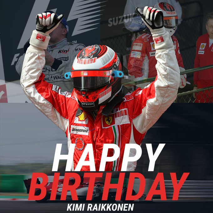 309 Race Starts 21 Victories 1 World Championship 103 Podiums  Happy Birthday, Kimi Raikkonen!