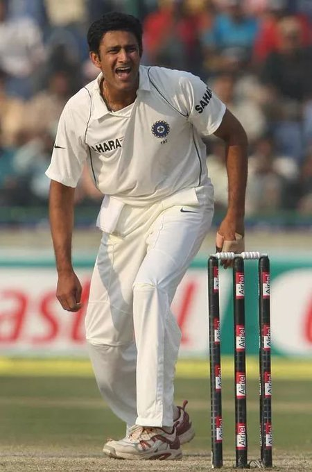 Happy Birthday to India\s leading wicket taker in tests Anil Kumble.
