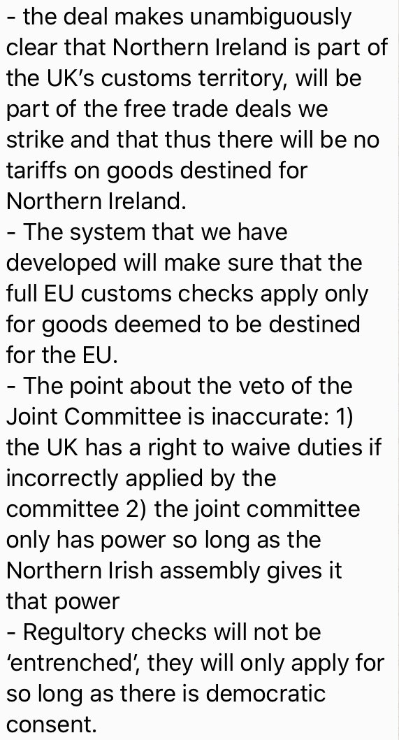 Attached is the government's response to the DUP's critique of Johnson's deal to keep open the border on the island of Ireland. But perhaps the more fundamental point is that ministers are concerned that if there were a no-deal Brexit, that would lead to a referendum - a...