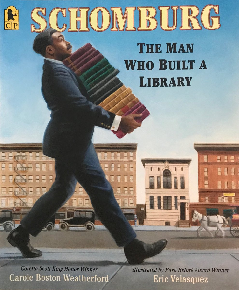 New Spanish language edition of my bio of Afro-Puerto Rican, Harlem Renaissance bibliophile SCHOMBURG: THE MAN WHO BUILT A LIBRARY. #HispanicHeritageMonth pic.twitter.com/i4BRzuYUWl