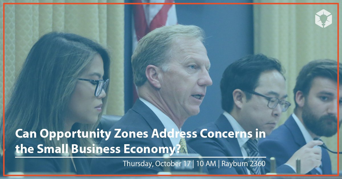 📺 TUNE IN: Subcommittee hearing on how small businesses can leverage opportunity zones. Watch here starting at 10AM ↓ buff.ly/2ITwjy5