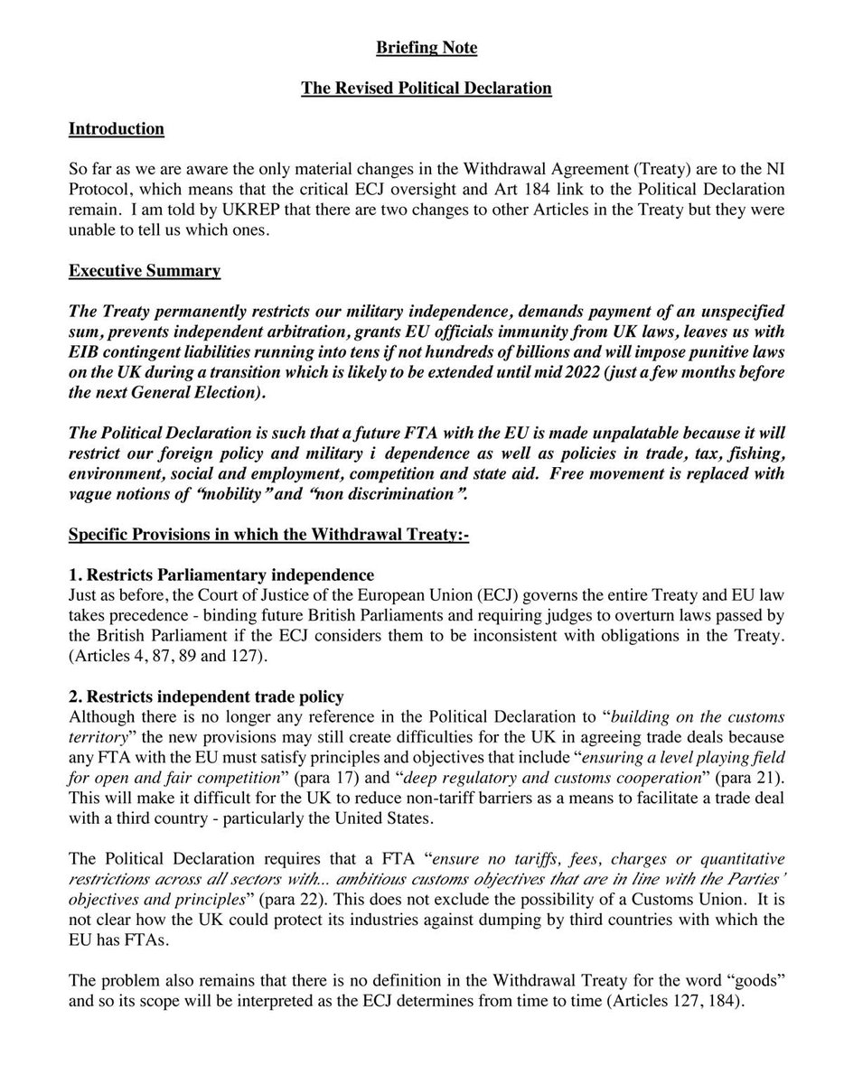 Barristers Briefing Note on Boriss Deal 3 Pages in this thread. Please RT Thank you.