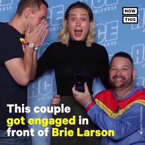 This Marvel superfan proposed with an infinity stone ring in front of Captain Marvel herself back in 2019
