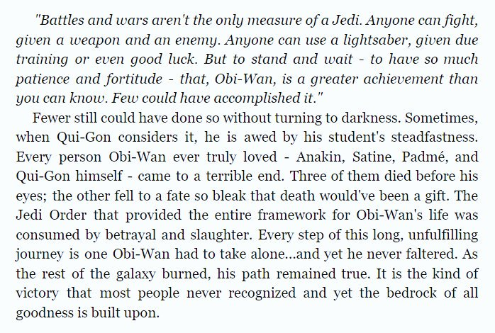 'Master and Apprentice' by Claudia Gray in Star Wars: From a Certain Point of View #BookQuoteoftheDay #ObiWanKenobi #QuiGonJinn<br>http://pic.twitter.com/4bnV87qbTi